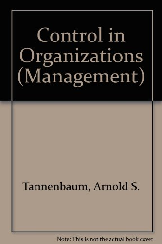 9780070628441: Control in Organizations (Management)