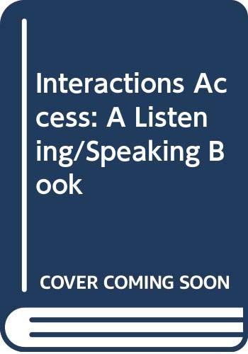 9780070629172: Interactions Access: A Listening/Speaking Book