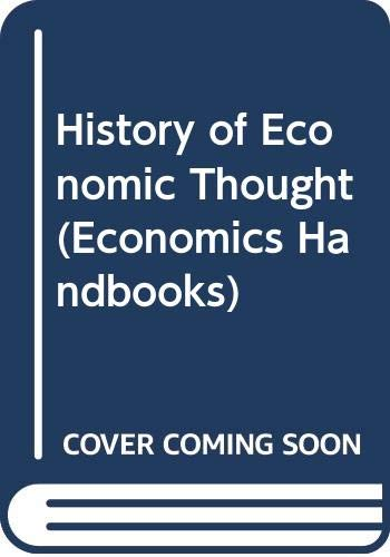 9780070629301: A History of Economic Thought