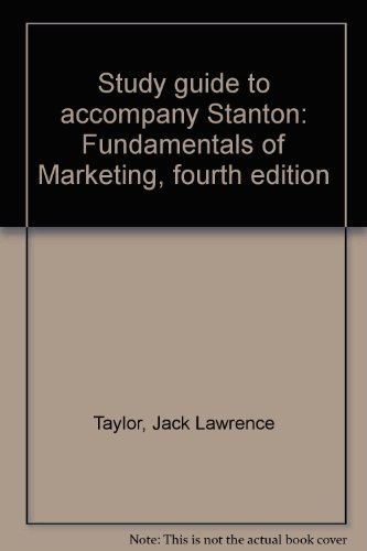 Study guide to accompany Stanton: Fundamentals of: Taylor, Jack Lawrence