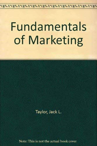 FUNDAMENTALS OF MARKETING: ADDITIONAL DIMENSIONS, Second Edition, Selections from the Literature.