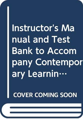 9780070631182: Instructor's Manual and Test Bank to Accompany Contemporary Learning Theory and Research