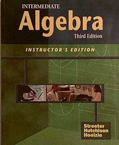9780070632820: Intermediate Algebra