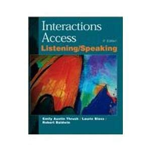 9780070633407: Interactions Access: A Listening/Speaking Book