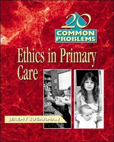 9780070633698: 20 Common Problems: Ethics in Primary Care