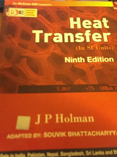 9780070634510: Heat Transfer (2008 Paperback International Version)