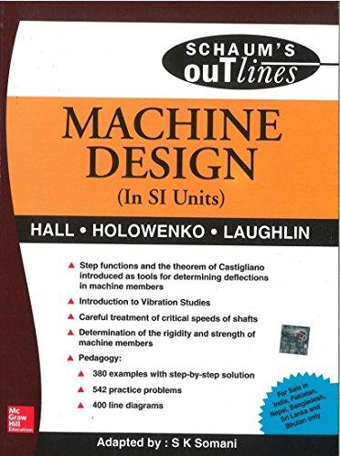 Machine Design (In SI Units), (SIE): Alfred Hall,Alfred Holowenko,Herman Laughlin,S. Somani
