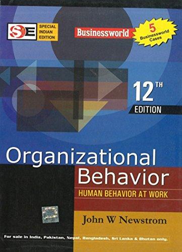 Organizational Behavior (International Edition) (0070635528) by Newstrom