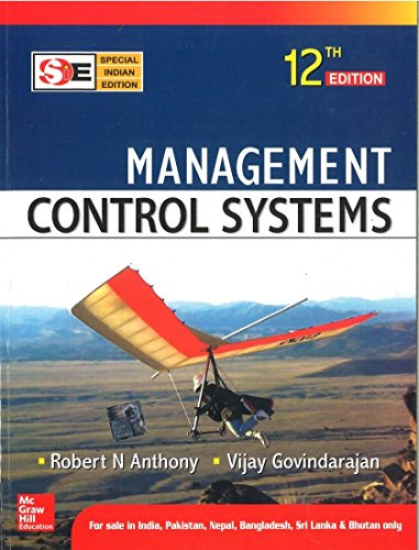 9780070635838: MANAGEMENT CONTROL SYSTEMS