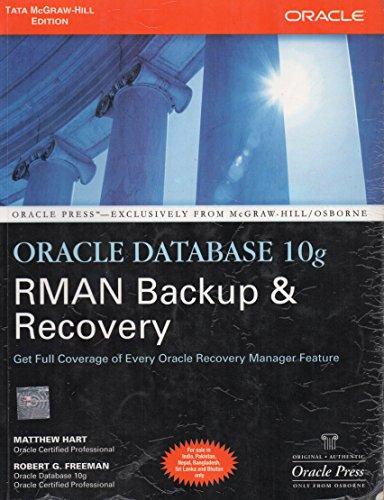 9780070636910: Oracle Database 10g RMAN Backup & Recovery 1ED