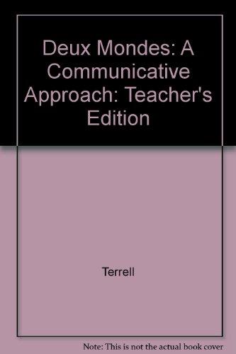 9780070638570: Deux Mondes: A Communicative Approach: Teacher's Edition