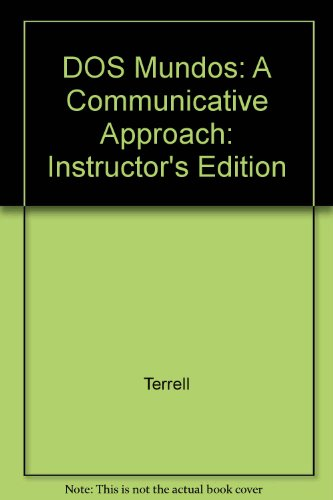 9780070638662: DOS Mundos: A Communicative Approach: Instructor's Edition