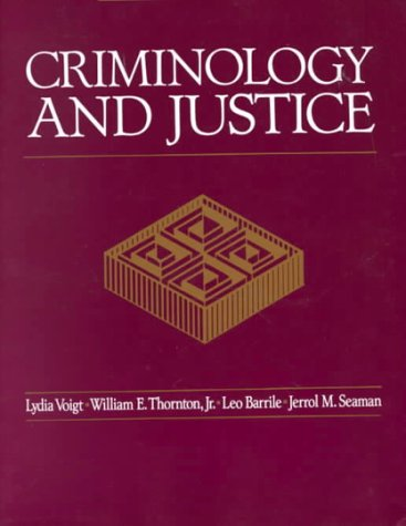 9780070645288: Criminology and Justice
