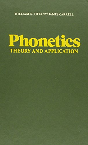9780070645752: Phonetics: Theory and Applications (Speech)