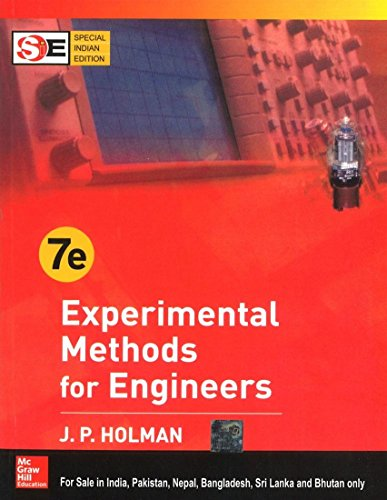 Experimental Methods for Engineers (International Edition): J.P. Holman
