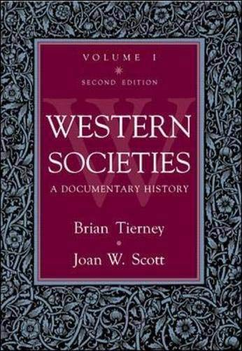9780070648449: Western Societies: A  Documentary  History,  Volume 1