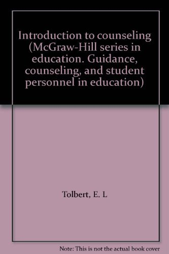 9780070649354: Introduction to counseling (McGraw-Hill series in education. Guidance, counseling, and student personnel in education)