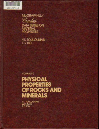 9780070650329: Physical Properties of Rocks and Minerals (McGraw-Hill/CINDAS data series on material properties : Group II, Properties of special materials)