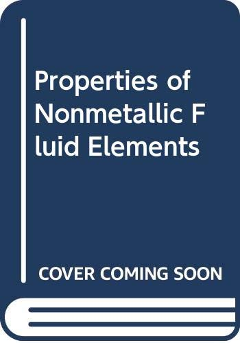 9780070650336: Properties of nonmetallic fluid elements (McGraw-Hill/CINDAS data series on material properties : Group III, Properties of the elements)