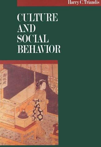 9780070651104: Culture and Social Behavior