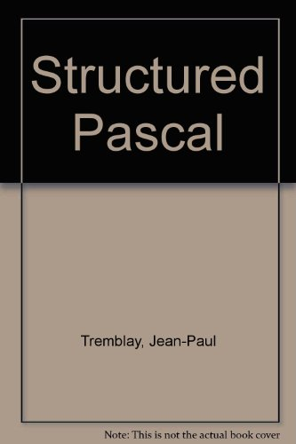 Structured Pascal (0070651590) by Tremblay, Jean-Paul