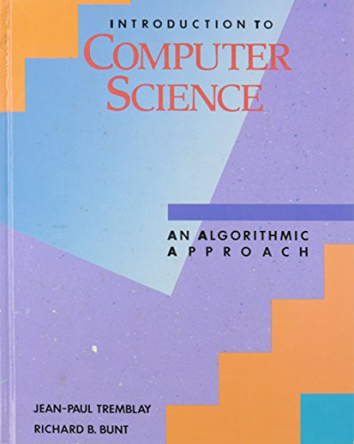9780070651685: Introduction to Computer Science: An Algorithmic Approach (The McGraw-Hill computer science series)