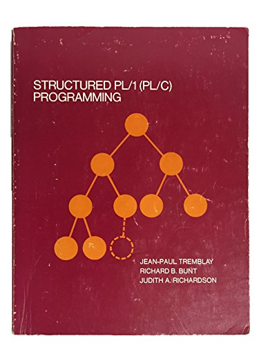 9780070651739: Structured Pl One (Pl-C Programming)