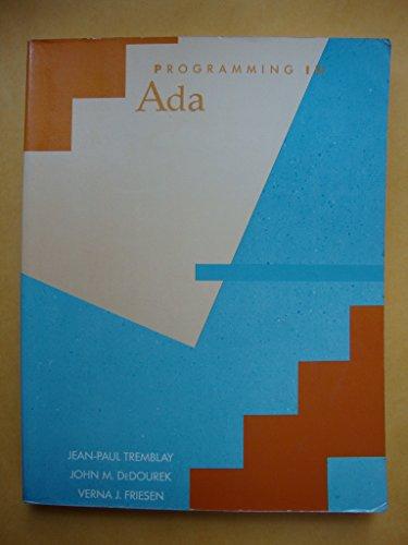 9780070651807: Programming in Ada