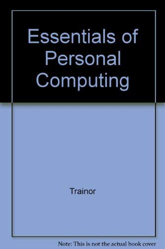 9780070652330: Essentials of Personal Computing