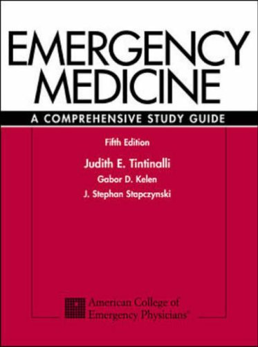 9780070653511: Emergency Medicine: A Comprehensive Study Guide