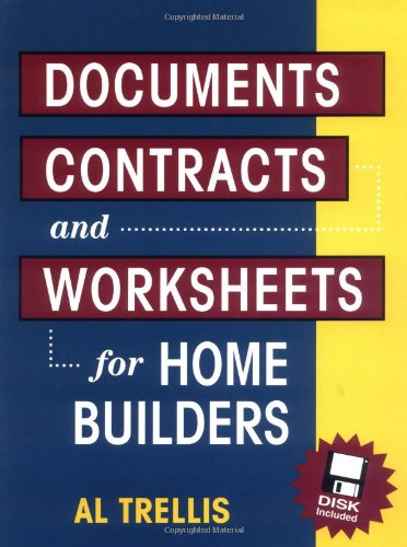 9780070653559: Documents, Contracts and Worksheets for Home Builders