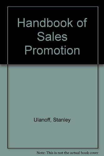 9780070657335: Handbook of Sales Promotion