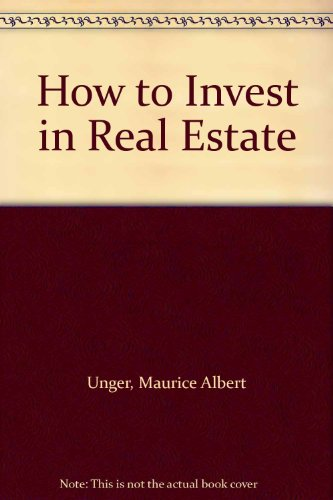 9780070659278: How to Invest in Real Estate