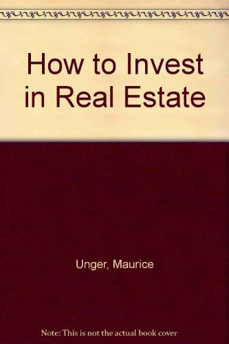 9780070659285: How to Invest in Real Estate