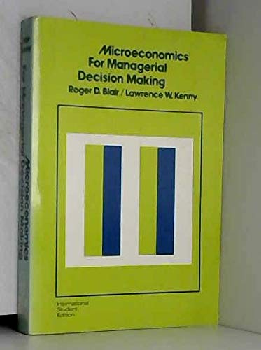 9780070661837: Microeconomics for Managerial Decision Making