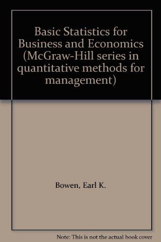 9780070661882: Basic Statistics for Business and Economics (McGraw-Hill series in quantitative methods for management)