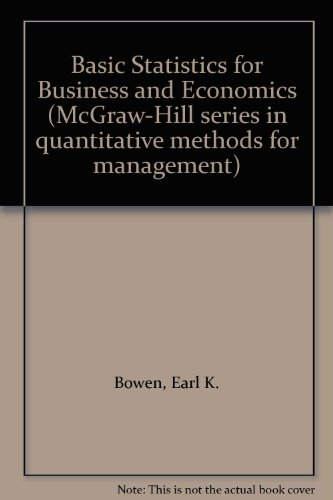 9780070661882: Basic Statistics for Business and Economics (McGraw-Hill series in quantitative methods for management)