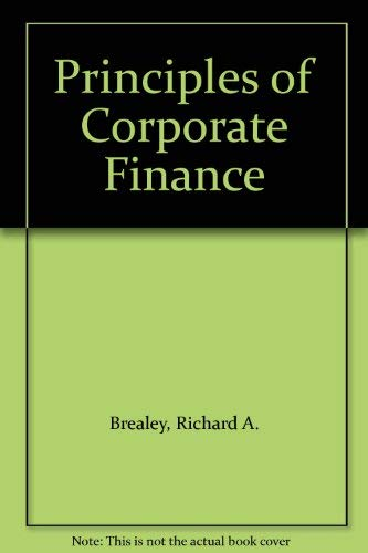 9780070661981: Principles of Corporate Finance