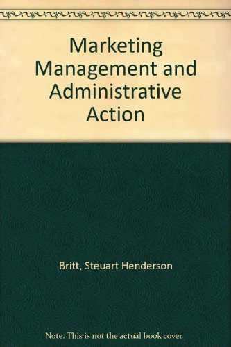 9780070661998: Marketing Management and Administrative Action