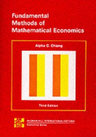 9780070662193: Fundamental Methods of Mathematical Economics