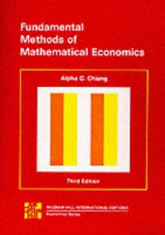 9780070662193: Fundamental Methods of Mathematical Economics