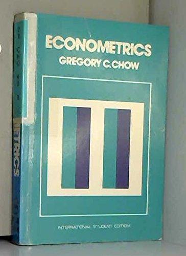 9780070662230: Econometrics