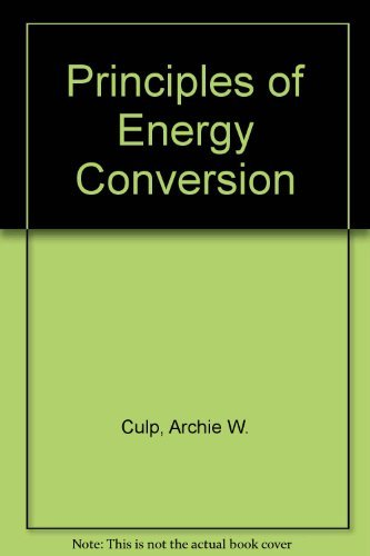 9780070662384: Principles of Energy Conversion
