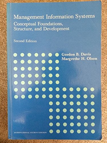 9780070662414: Management Information Systems: Conceptual Foundations, Structure and Development