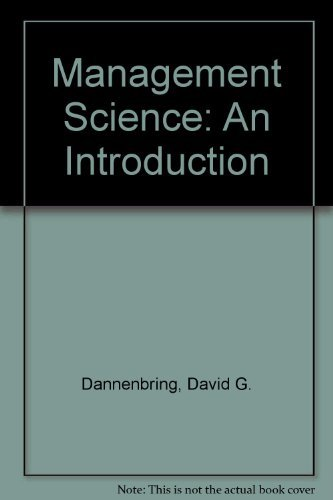 9780070662490: Management Science: An Introduction