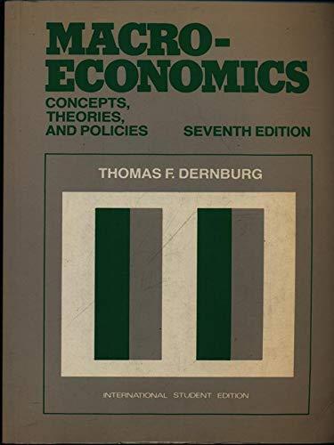 Macroeconomics (PBK): Dernburg, Thomas F.