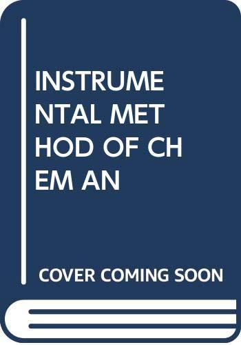 9780070662773: Instrumental Methods of Chemical Analysis