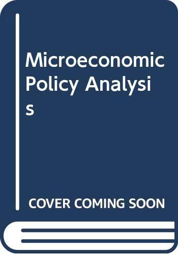 9780070662803: Microeconomic Policy Analysis