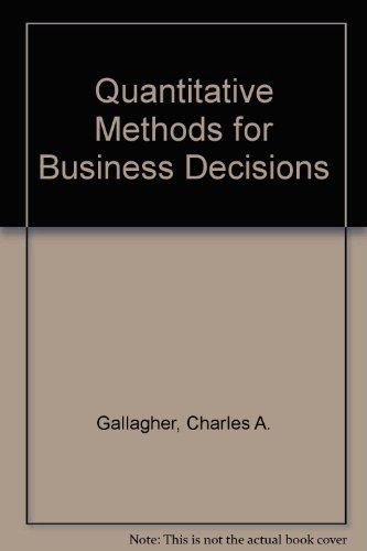 9780070662926: Quantitative Methods for Business Decisions