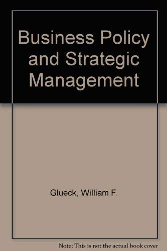 9780070663022: Business Policy and Strategic Management